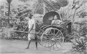 Sri Lanka, Ceylon Colombo Ginrickshaw native, traditional rickshaw, beauty