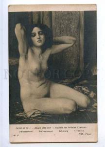 190138 NUDE BELLE Dream Female by CHANOT Vintage SALON 1914 PC