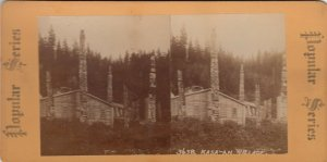 SV : Kasa-an Village , Alaska , 1890s : Totem Poles