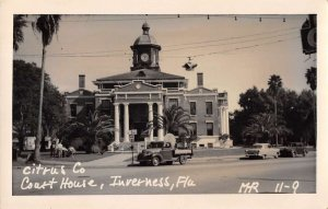 Inverness Florida Court House Real Photo Vintage Postcard AA16369