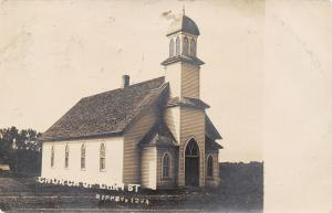 Rippey Iowa~Church of Christ~Hardly Knew You Was C of CC~Left Old Maid~1907 RPPC
