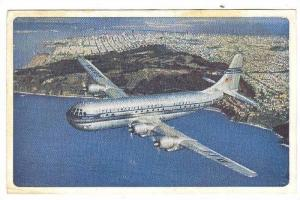 Pan American World Airway, Double-Decked Strato Clipper in flight, 40-50s
