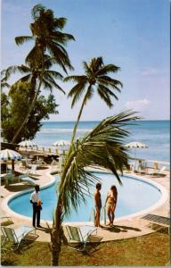 Cobblers Cove Hotel St. Peter Barbados WI West Indies Pool Unused Postcard E18