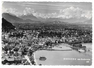 Austria Bregenz am Bodensee Panorama View Werner Branz Glossy Photo 4X6 Postcard