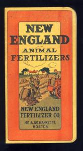 1913 New England Animal Fertilizer Booklet, Boston, Mass/MA