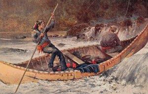 Trout Fishing , 00-10s ; Indian Steadies Canoe ; Frank Feller