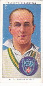 Player Cigarette Card Cricketers 1938 No 40 A G Chipperfield Australia