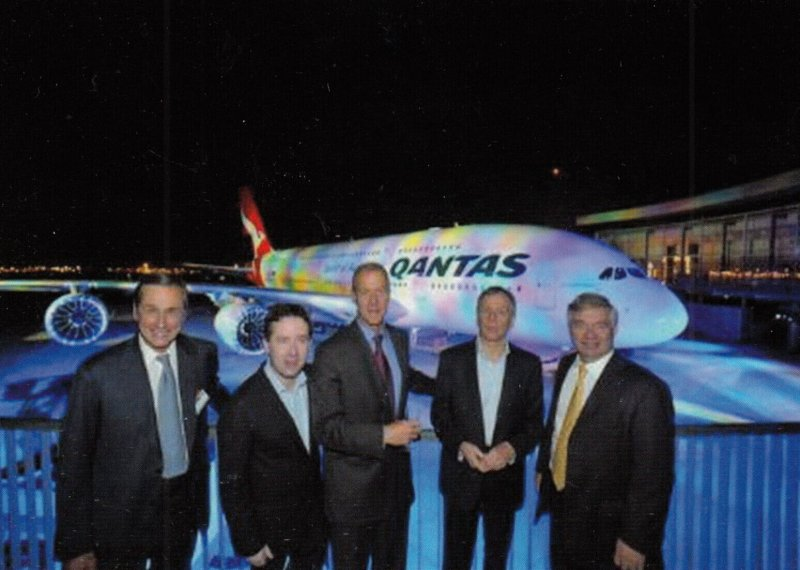 AUSTRALIA , 2008 ; First delivery QUANTAS Airbus S.A.S. A 380 Airplane