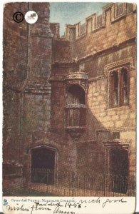 Vintage Postcard, Open Air Pulpit Magdalen College University of Oxford in 1458