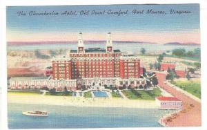 Exterior, The Chamberlin Hotel, Old Point Comfort,Fort Monroe,Virginia,30-40s