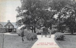 Brook Indiana~Writer George Ade's Mansion Home~S. Hazelden~Buggy~1908 Postcard