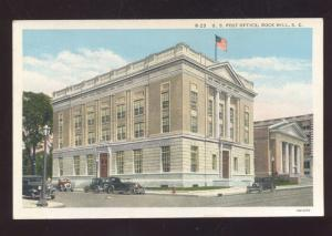 ROCK HILL SOUTH CAROLINA UNITED STATES POST OFFICE VINTAGE POSTCARD S.C.