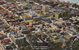 ST. JOSEPH, Missouri, 1900-1910's; Air View Of Downtown