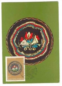 Maximum postcard, PU-1968, Hungary, Platter