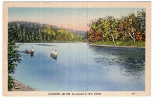 Canoeing On The Allagash River, Maine