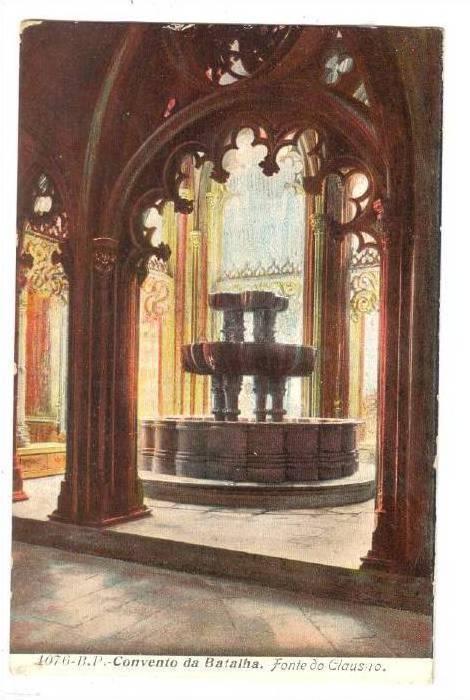 Interior, Convento da Batalha, Fonte do Clausio, Leiria, Portugal, 00-10s
