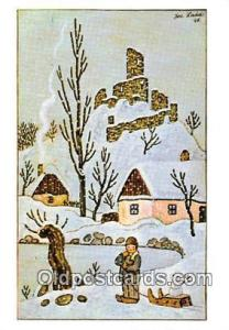Artist Josef Lada Greetings Postcard Post Card Artist Josef Lada Greetings