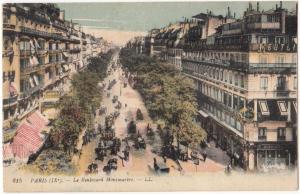 France, Paris, Le Boulevard Montmartre, unused Postcard CPA