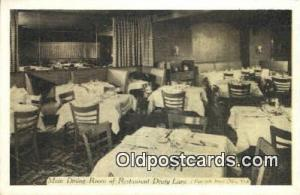 Restaurant Drury Lane Restaurant, New York City, NYC Postcard Post Card USA O...