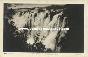 rhodesia, Victoria Falls, Looking South (1930s) RPPC