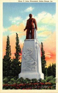 Louisiana Baton Rouge Huey P Long Monument Curteich
