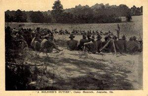 Augusta, Georgia - A Soldier's Duties - at Camp Hancock - c1914