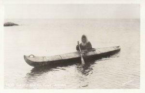 RP , Eskimo & His Kyak , Alaska , 1930-40s