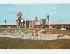Unused Pre-1980 OLD CARS & QUALITY COURT TOWN MOTEL Hagerstown Maryland MD M0378