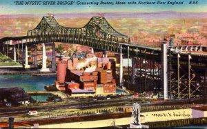 Mystic River Bridge Connecting Boston Massachusetts and Northern New England