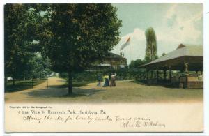 Reservoir Park Harrisburg Pennsylvania 1907c postcard
