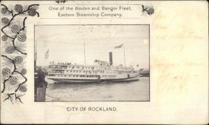 Esatern Steamship Co Steamer city of Rockland c1900 Private Mailing Card