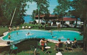 ST JOVITE , Quebec, 1950-60s ; Lac Quimet Resort , Swimming Pool