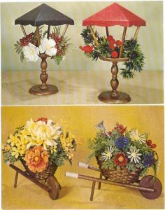 4 Cards: Flower & Plant Bouquets/Arrangements by Studios of National Handicraft