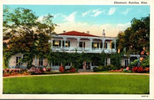 Mississippi Natchez Elmscourt Built 1810 Curteich
