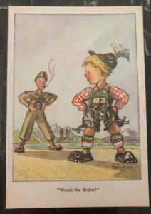 Mint USA PPC Picture Postcard GI Joe In Bavaria WW2 Watch The Birdie