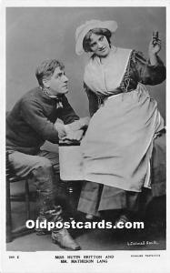 Miss Hutin Britton and Mr Matheson Lang Theater Actor / Actress Unused