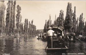 Mexico Xochimilco Canal Scene Photo