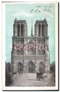 Paris Old Postcard Notre Dame