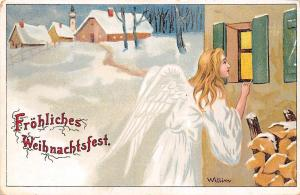 Froehliches Weihnachtsfest, Merry Christmas! Lady Angel, Willim Signed