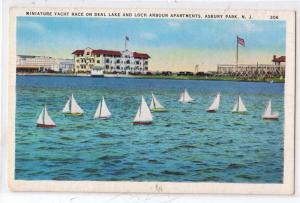 Yacht Race on Deal Lake, Asbury Park NJ