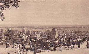 Province Francaise, Montreal 25, General View, Horse-drawn carriages, Quebec,...