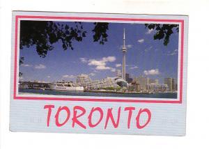 Skyline, CN Tower, Huge Yacht, Toronto, Ontario, Photo CPSP Scanavision