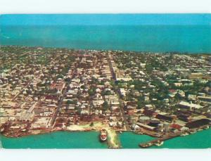 Pre-1980 AERIAL VIEW OF TOWN Key West Florida FL n3174