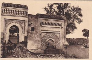Meknes, A fontaine and gate on the remparts, Morocco, 10-20s