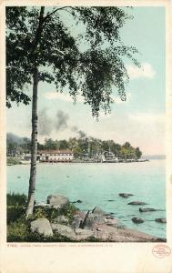 Weirs NH~Detroit Publishing #9782 Smoke Paddlewheel Steamboat~Endicott Rock 1907