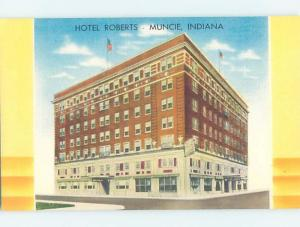 Unused Linen HOTEL SCENE Muncie Indiana IN B1203