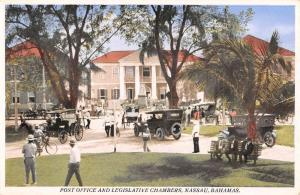 Nassau Bahamas Post Office Legislative Chambers Antique Postcard K54525