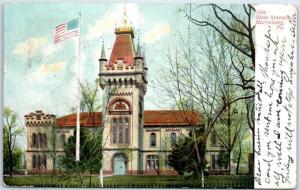 Harrisburg, Pennsylvania Postcard State Arsenal Building View 1907 Cancel