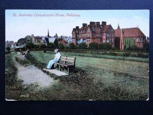 Kent FOLKESTONE St. Andrews Convalescent Home c1912 RP Postcard by Valentine