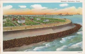 Texas Galveston The Seawall Curteich